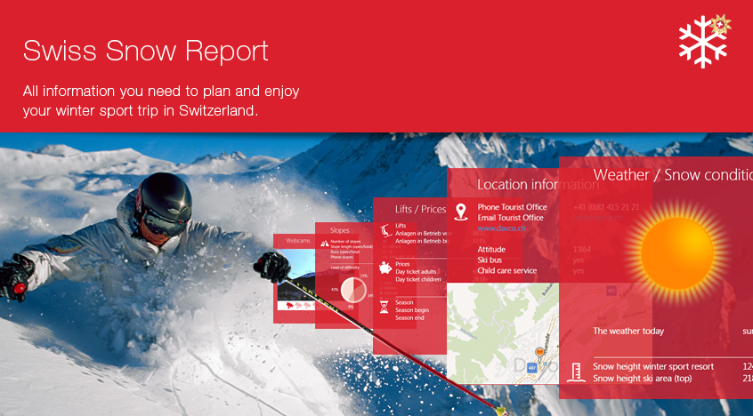Swiss Snow Report app for Windows 8